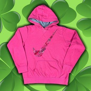 Nike Swoosh Script Logo Pink Cotton Fleece